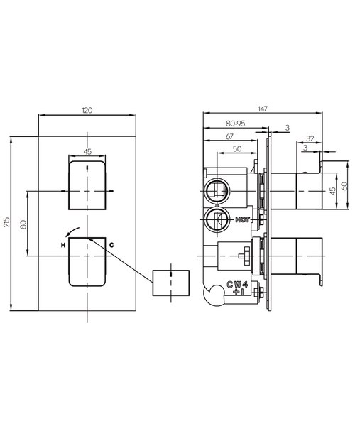 Technical drawing 36330 / KH03_1500RC