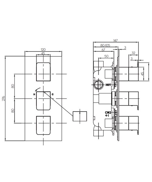 Technical drawing 36331 / KH03_2000RC