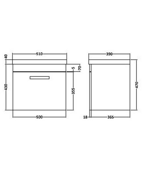 Technical drawing 36585 / SH51DW
