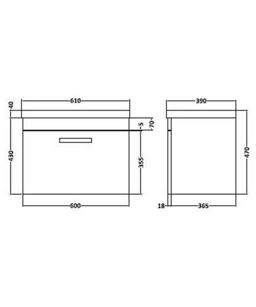 Technical drawing 36587 / SH61DW