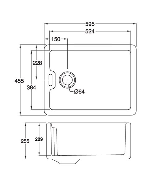Technical drawing 36979 / BF10WHHOMESK