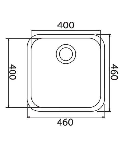 Technical drawing 37000 / LNS2WHHOMESK