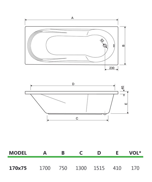 Technical drawing 37051 / 200MOD1775AQMAXCWS06