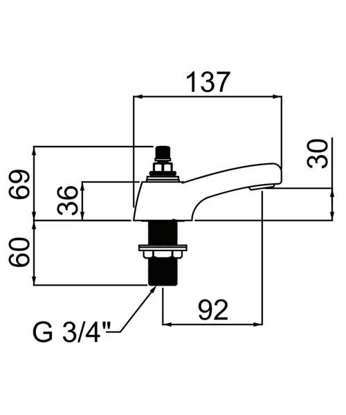 Technical drawing 37078 / CHC 3/4 C