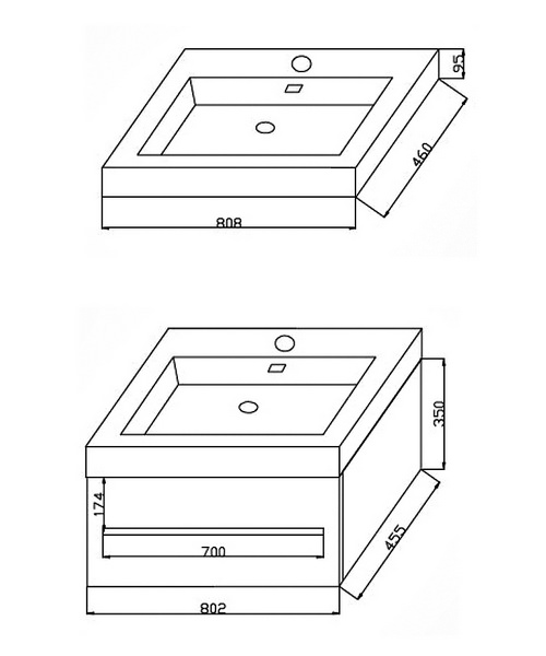 Technical drawing 37584 / FV80W