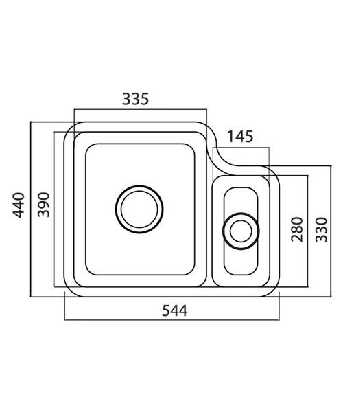 Technical drawing 37653 / LN15WHHOMESK