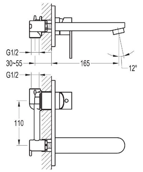 Technical drawing 40116 / SM2HBAS