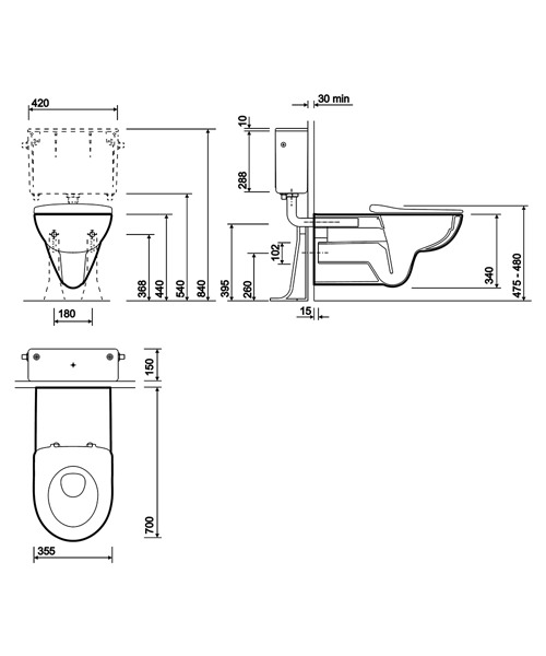 Technical drawing 40352 / E11906WH