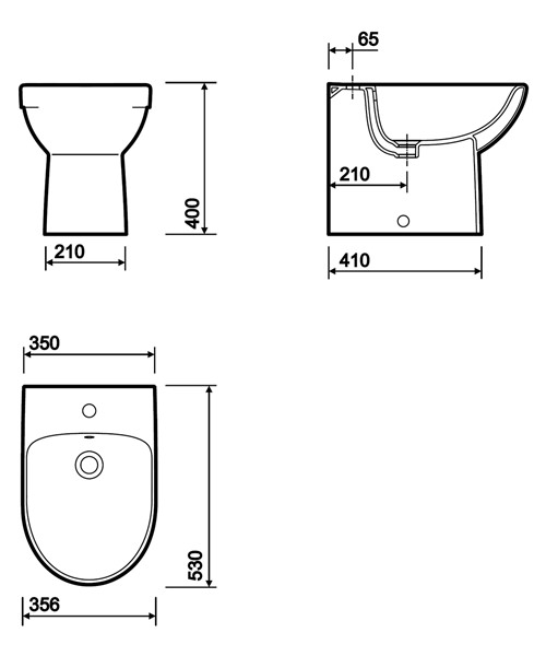 Technical drawing 40371 / E13111WH