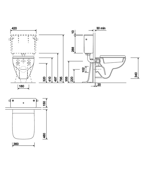 Technical drawing 40400 / E21700WH
