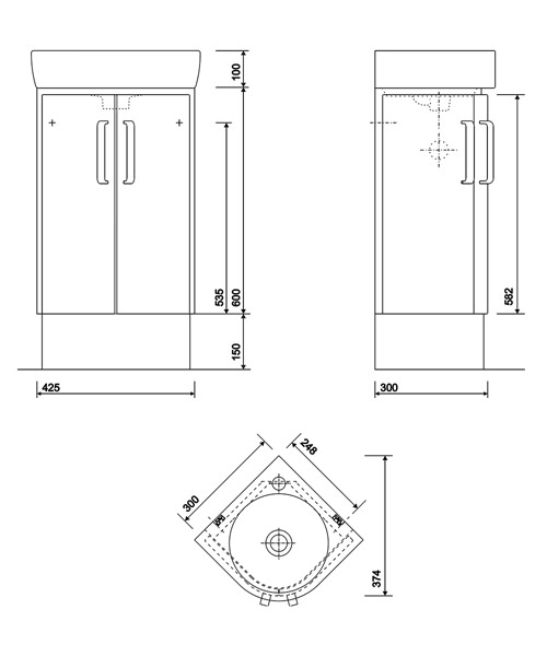 Technical drawing 40450 / E20101WH