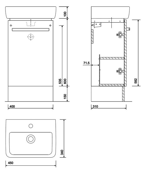 Technical drawing 40451 / E20172GY