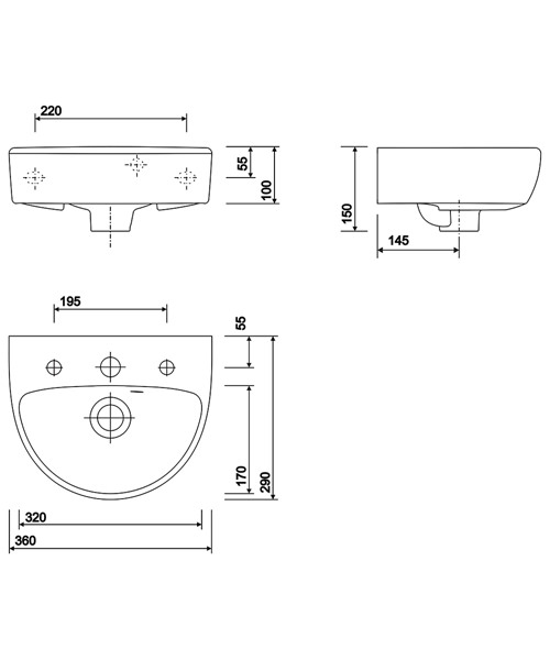 Technical drawing 40588 / E14821WH