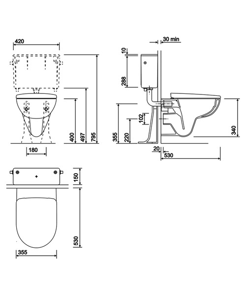 Technical drawing 40605 / E11798WH