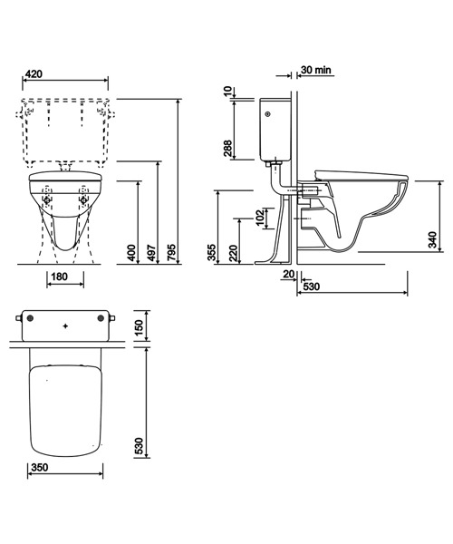 Technical drawing 40606 / E11909WH