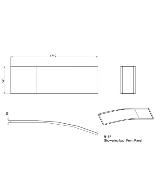 Technical drawing 41026 / R16F