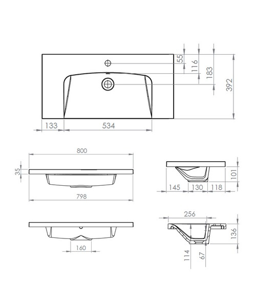 Technical drawing 41148 / SCH800IS