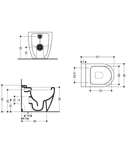 Technical drawing 4162 / RG6007CW