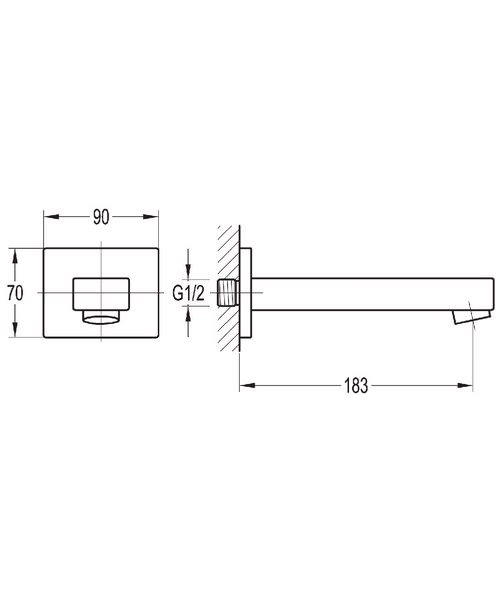 Technical drawing 43042 / STBAS/BFSPOUT