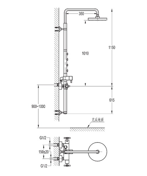 Technical drawing 43075 / XLSP