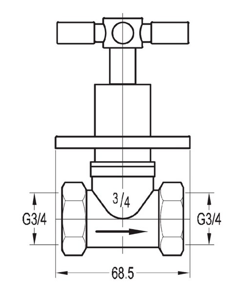 Technical drawing 43080 / XLWMCONHW