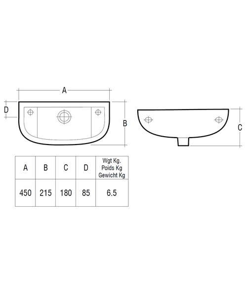 Technical drawing 43319 / COMSLWB1LH