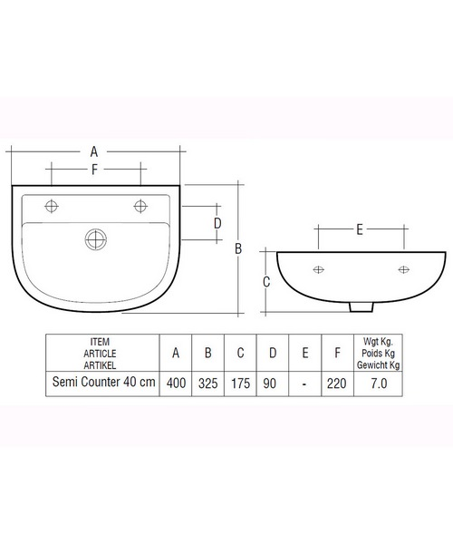 Technical drawing 43320 / COM40SR1LH