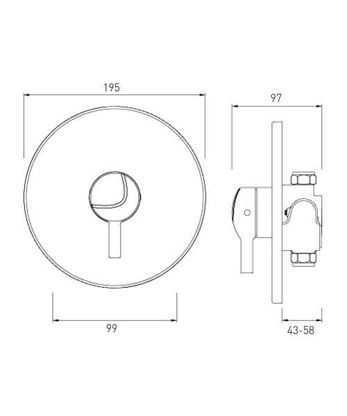 Technical drawing 44611 / MINI2 TS1203 CL C
