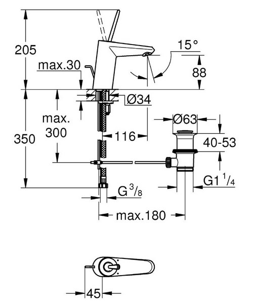 Technical drawing 44898 / 23425LS0