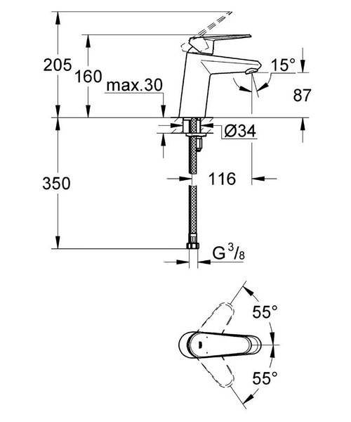 Technical drawing 44914 / 3246920E