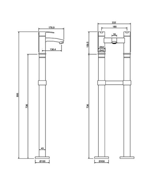 Technical drawing 45001 / CTA15