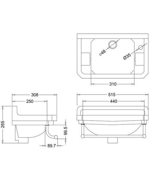 Technical drawing 45898 / B8R