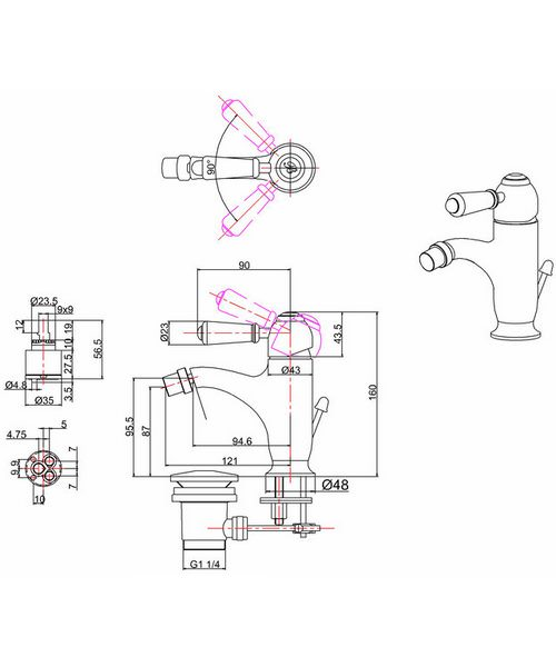Technical drawing 45912 / CH23