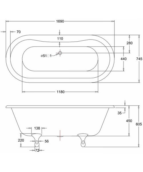 Technical drawing 45917 / E3