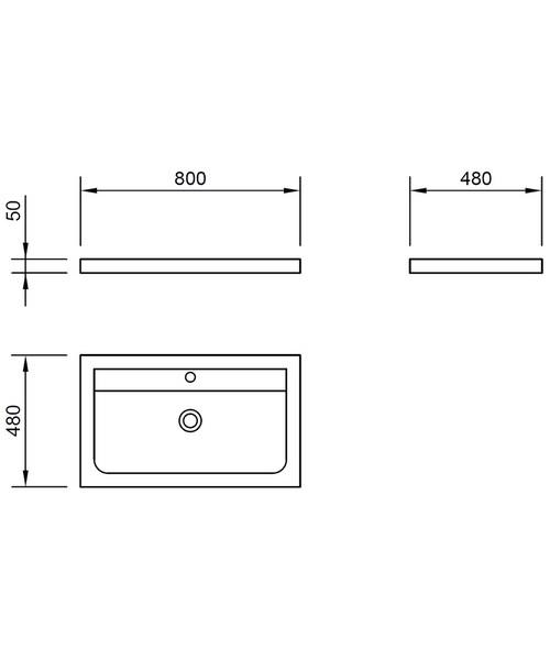 Technical drawing 46824 / XC80BAS