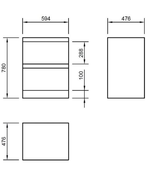 Technical drawing 46827 / FL60DDFMC