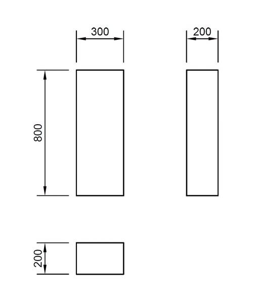 Technical drawing 46834 / FL80SSC