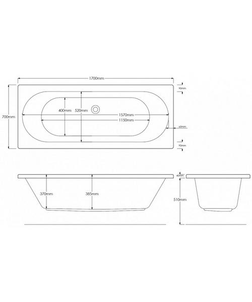 Technical drawing 46852 / PBCUDE17X70