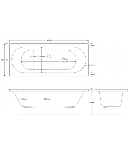 Alternate image of Pura Curve Double Ended Bath With Legset