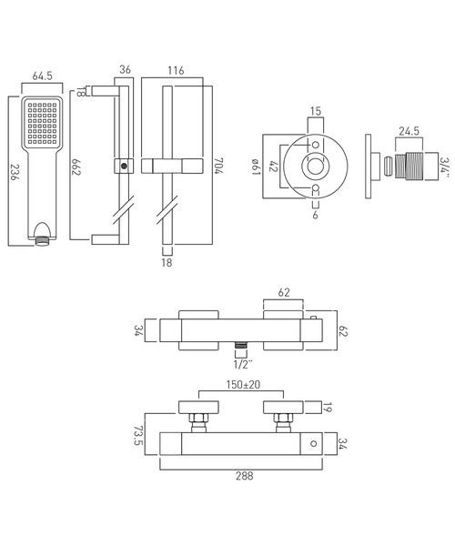 Technical drawing 47177 / WG-TEBOX149/B-1/2-CP