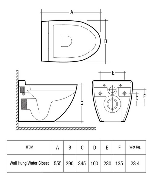 Technical drawing 47199 / RESWHPAN