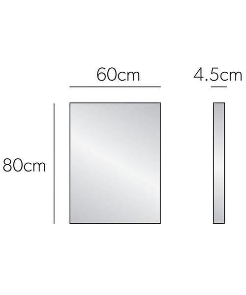Additional image of HIB Triumph 50 Portrait Bathroom Mirror 500 x 700mm