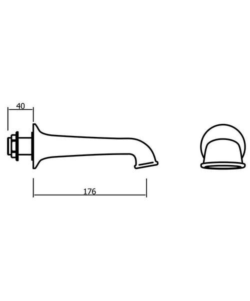Technical drawing 49044 / BL0370WC
