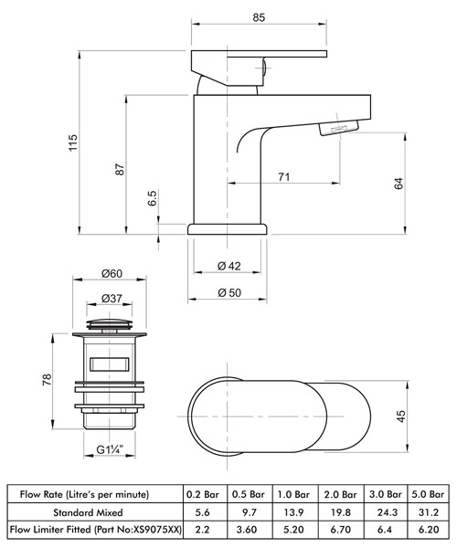 Technical drawing 49202 / X705122CP