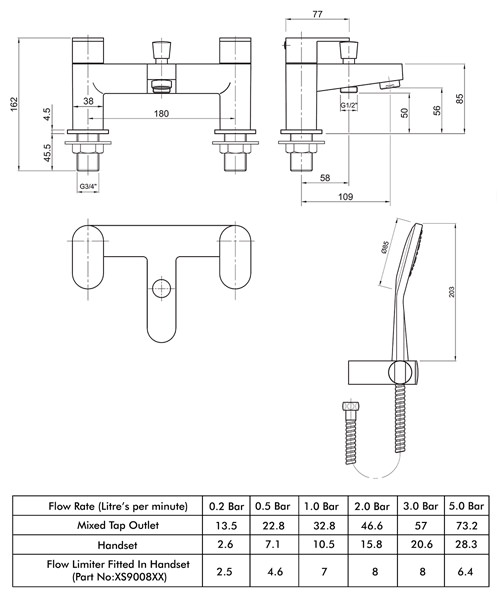 Technical drawing 49206 / X705265CP