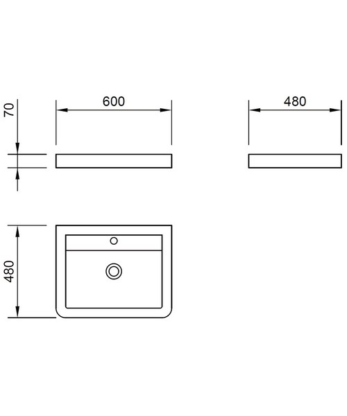 Technical drawing 49325 / FL60BAS