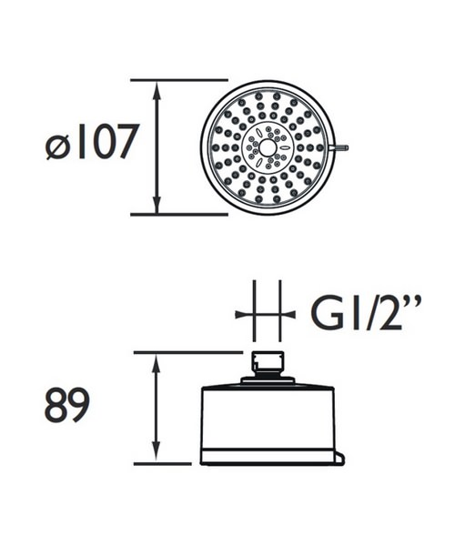 Technical drawing 4998 / FHC CTRD02 C