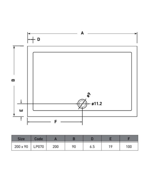 Technical drawing 50062 / LP070