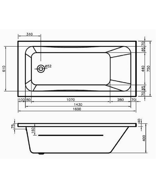 Technical drawing 50083 / BH070S1