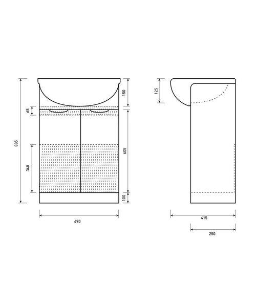 Technical drawing 50373 / FU072
